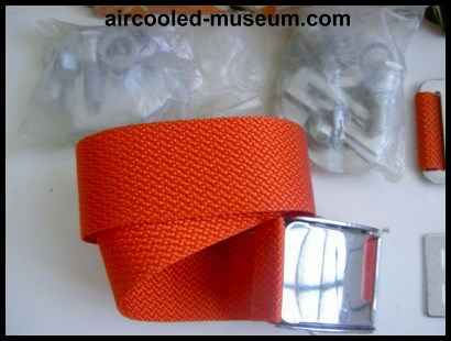 VW red seat belts
